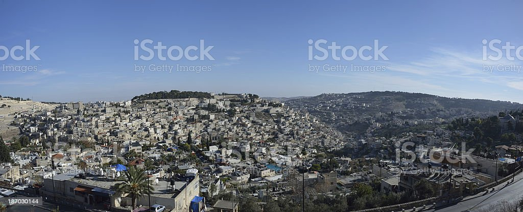 Vicinities of Jerusalem royalty-free stock photo