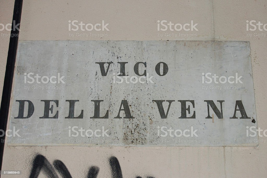 vico della vena, genova, italia stock photo