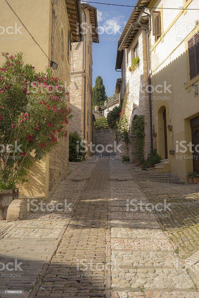 Vicolo, Spello royalty-free stock photo