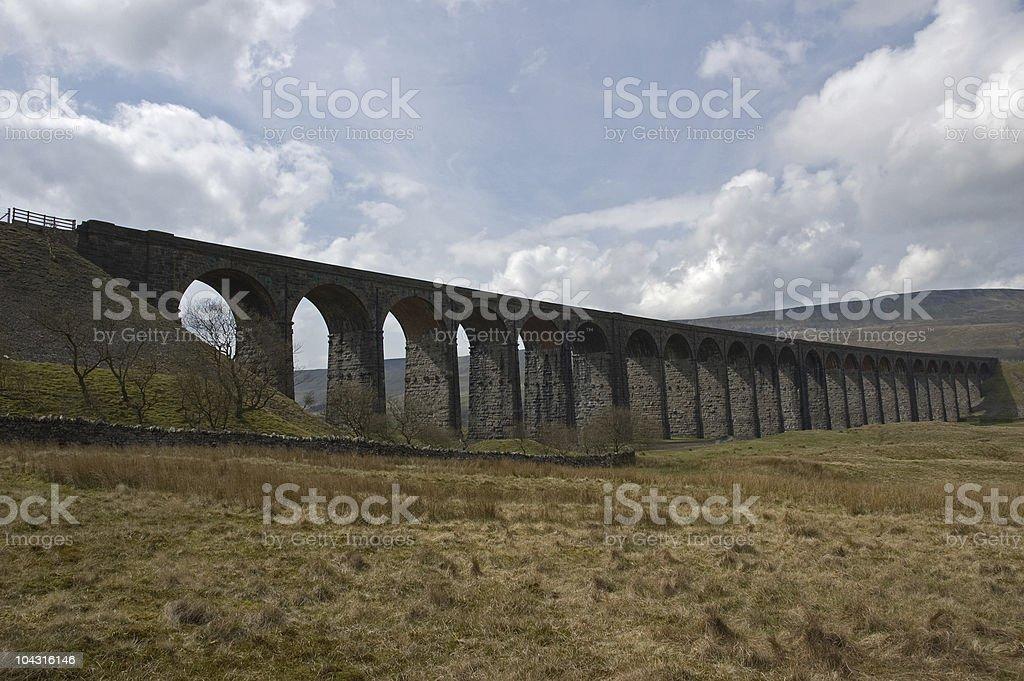 Vicorian railway viaduct stock photo
