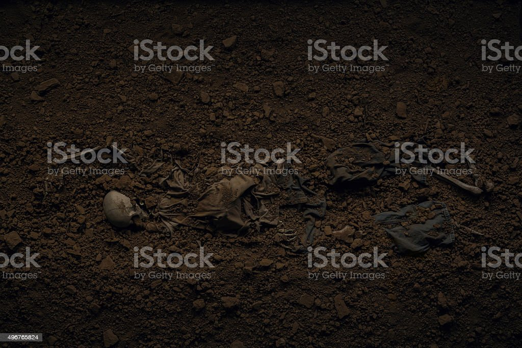 victim buried CSI stock photo