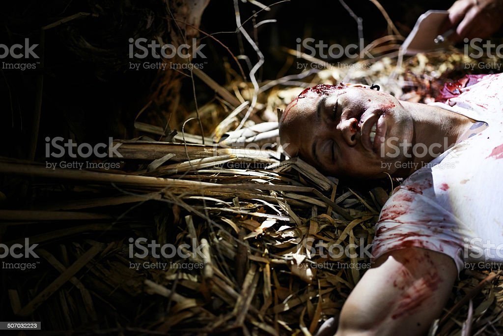 Victim of a tragedy royalty-free stock photo
