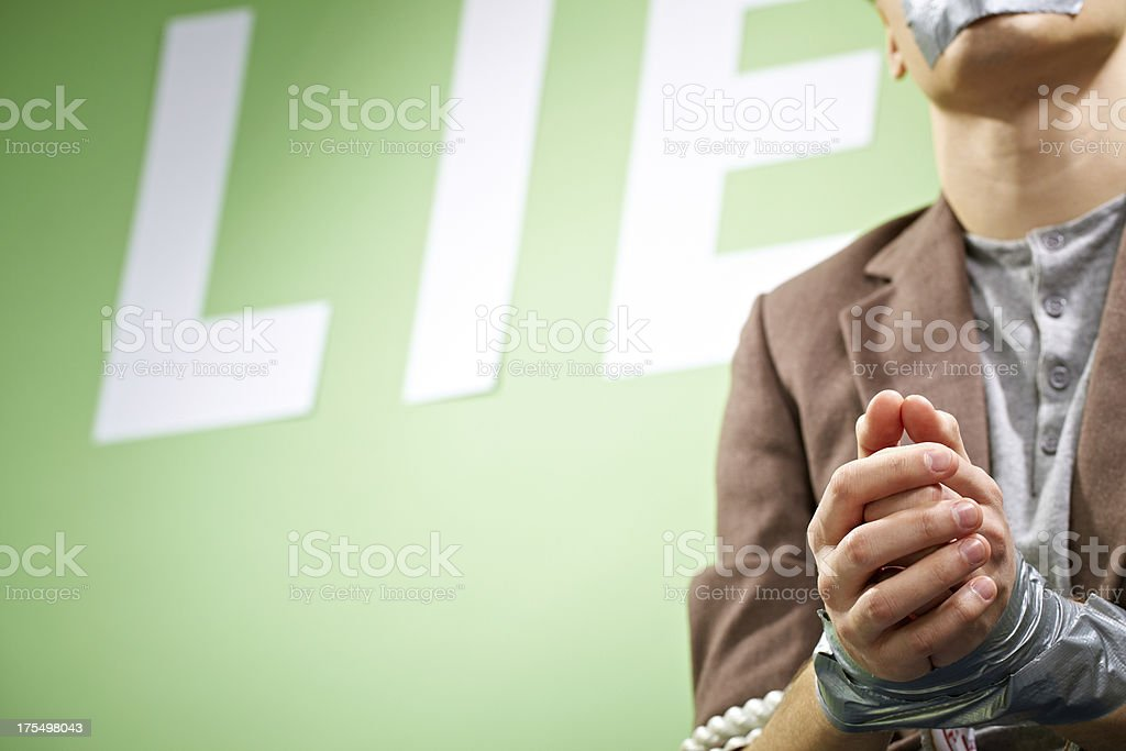 Victim of censorship royalty-free stock photo