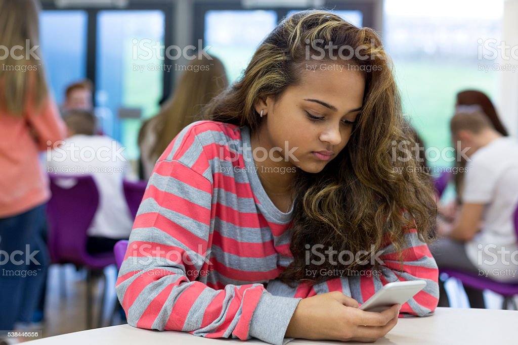 Victim of Cyber Bullying stock photo