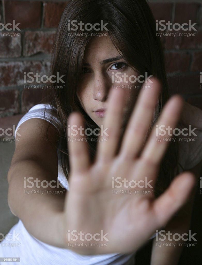 Victim stock photo