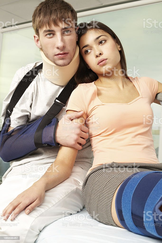 Victims of traffic accident royalty-free stock photo