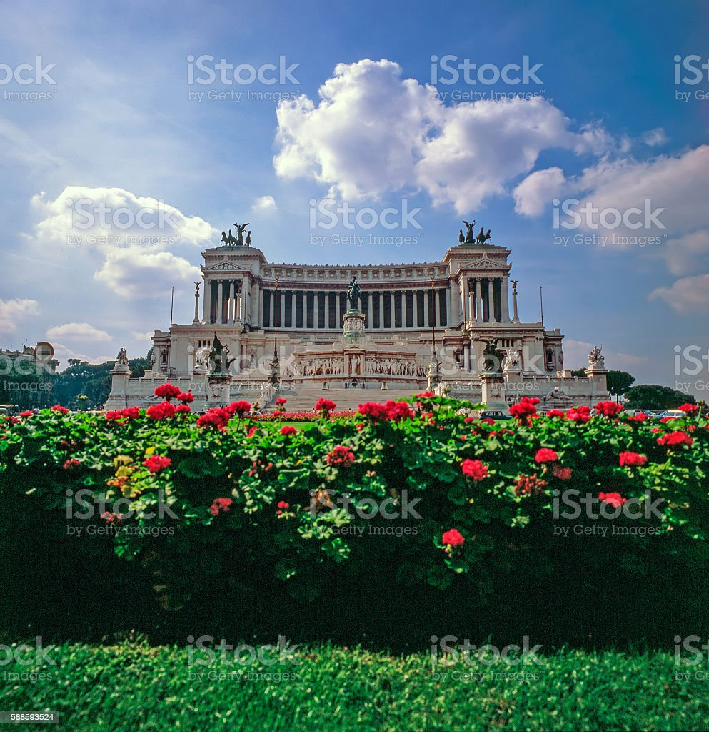 Victor Emanuel Monument, Rome, Italy stock photo