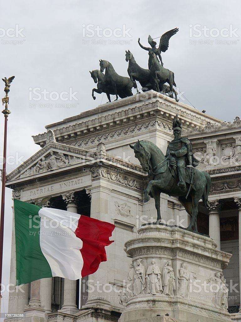 Victor Emmanuel II monument in Rome royalty-free stock photo