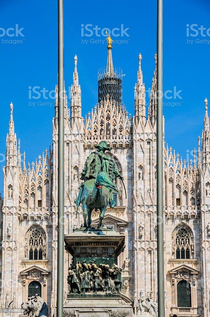 Victor Emmanuel II Statue stock photo