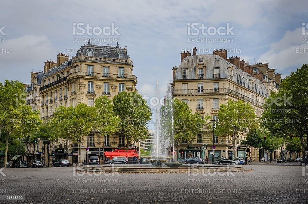 Victor Hugo Plaza in Paris, France stock photo