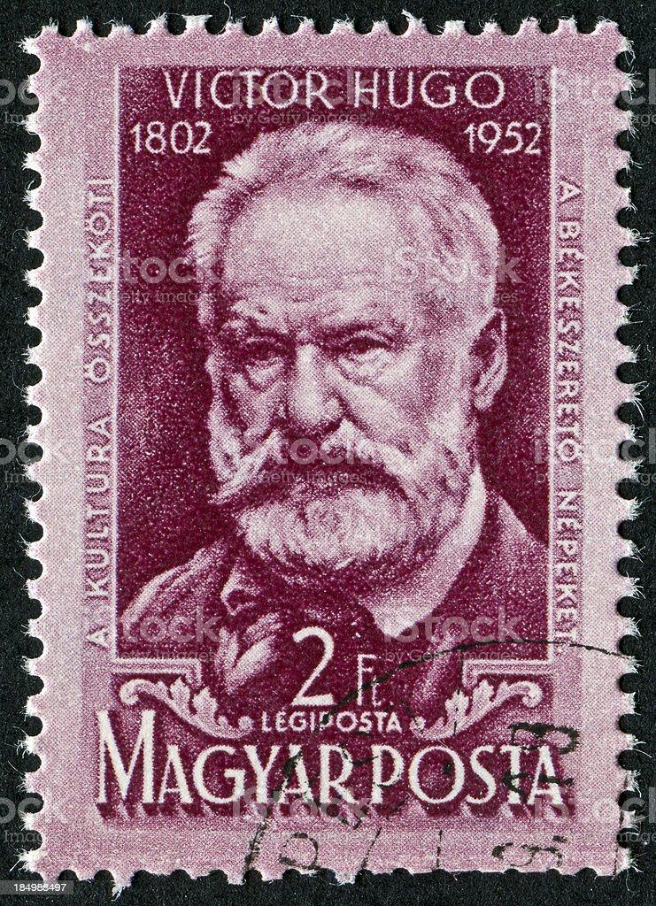 Victor Hugo Stamp stock photo