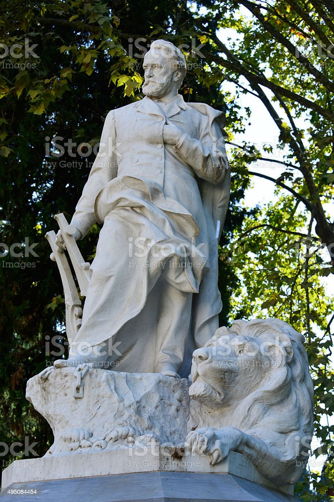 Victor Hugo the great french writer stock photo