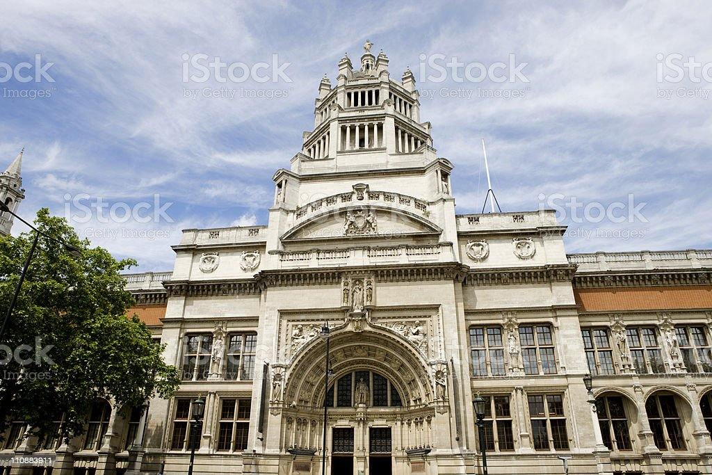 Victoria &Albert Museum, London royalty-free stock photo