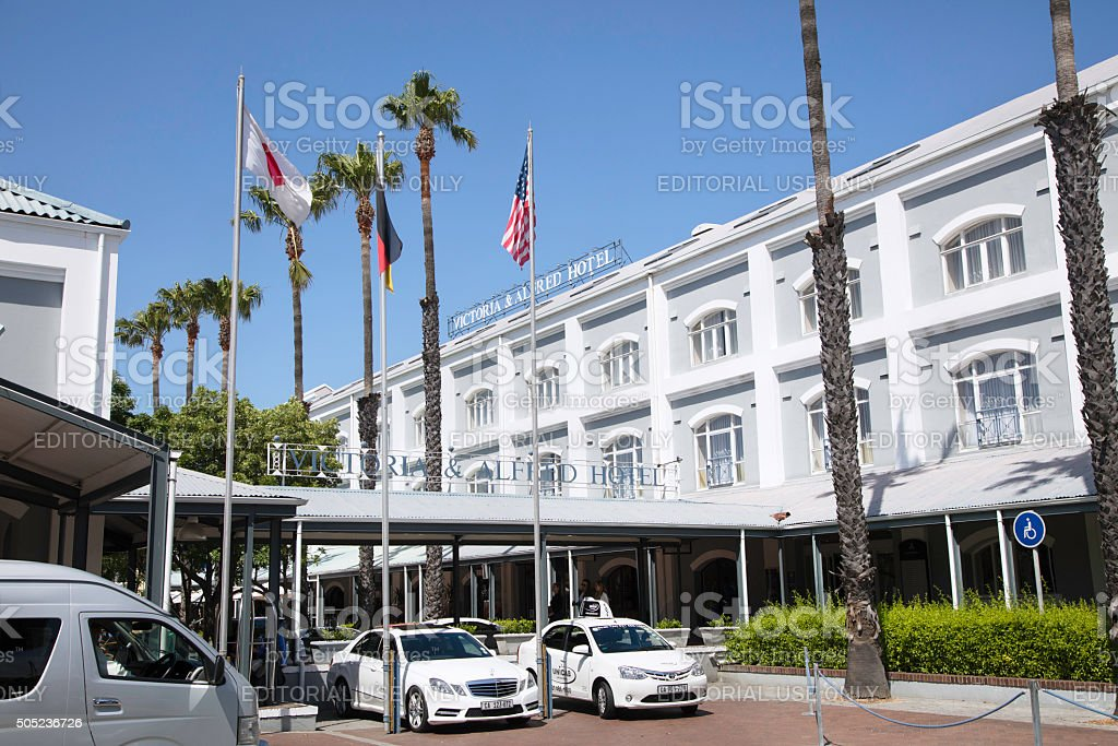 Victoria & Alfred Hotel at the waterfront in Cape Town stock photo