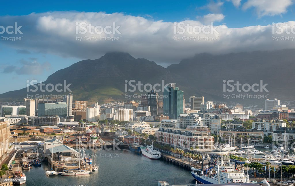 Victoria & Alfred Waterfront in Cape Town stock photo