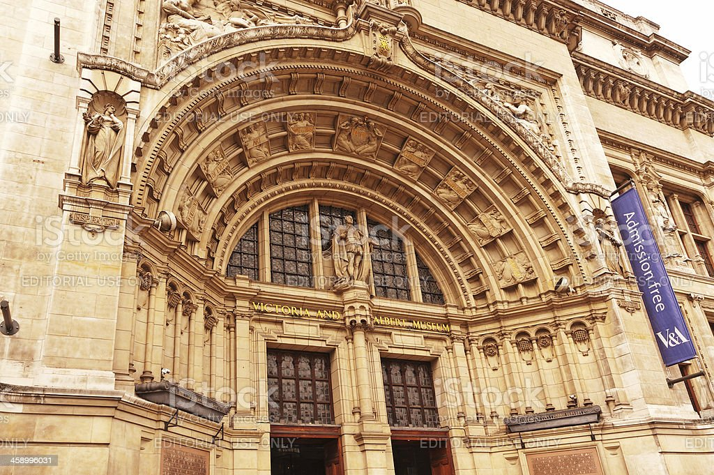 Victoria and Albert Museum entrance stock photo