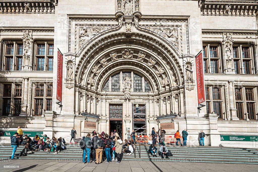 Victoria and Albert Museum in London, UK stock photo