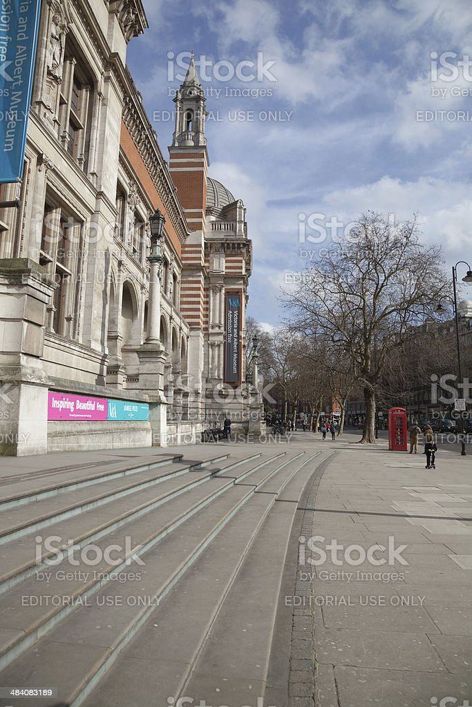 Victoria and Albert Museum London on a sunny day stock photo