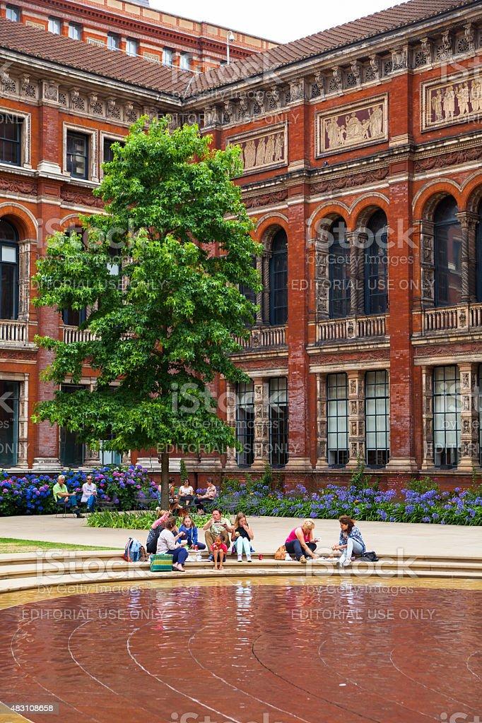 Victoria and Albert Museum of design, London. stock photo