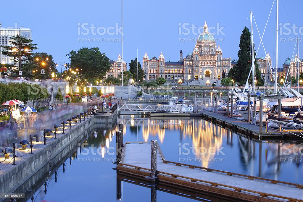 Victoria at night royalty-free stock photo