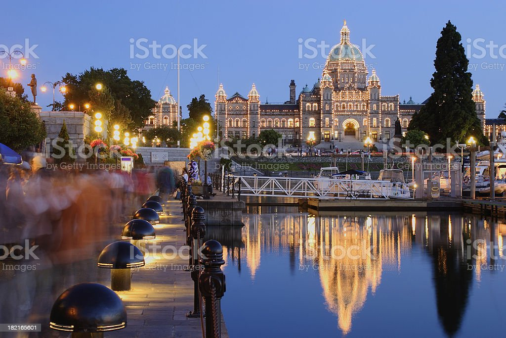 Victoria at night royalty-free stock photo