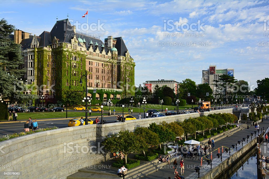 Victoria BC and the inner harbor. stock photo