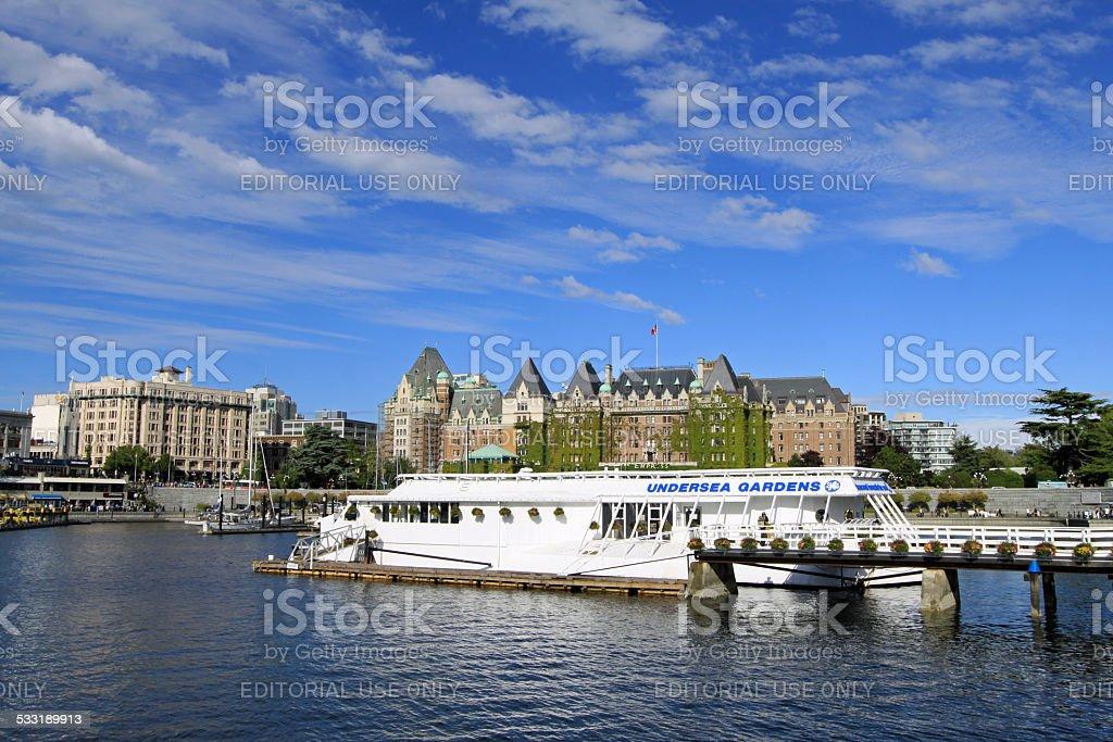 Victoria BC Inner Harbor stock photo