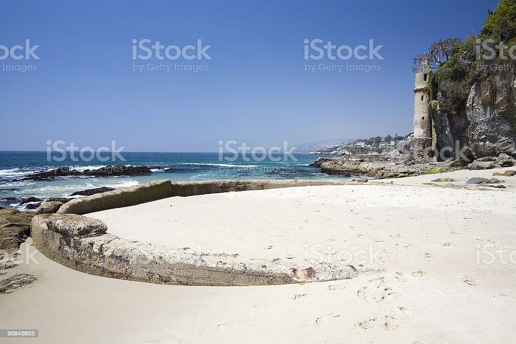 Victoria Beach and Tower, California stock photo
