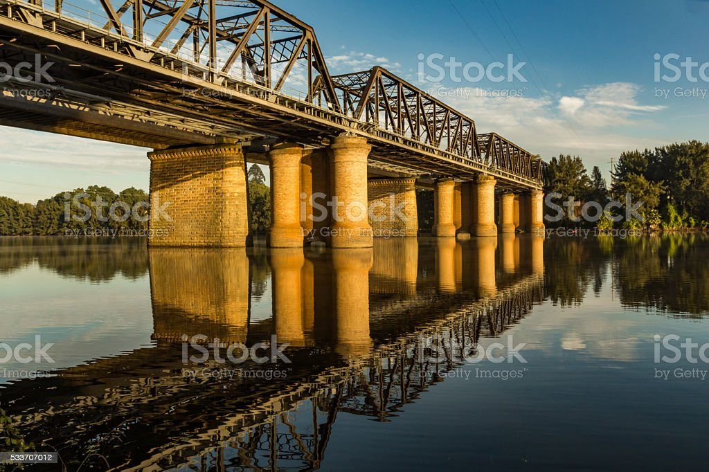 Victoria Bridge over the Nepean River stock photo