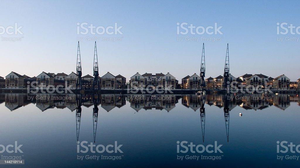 Victoria Dock stock photo