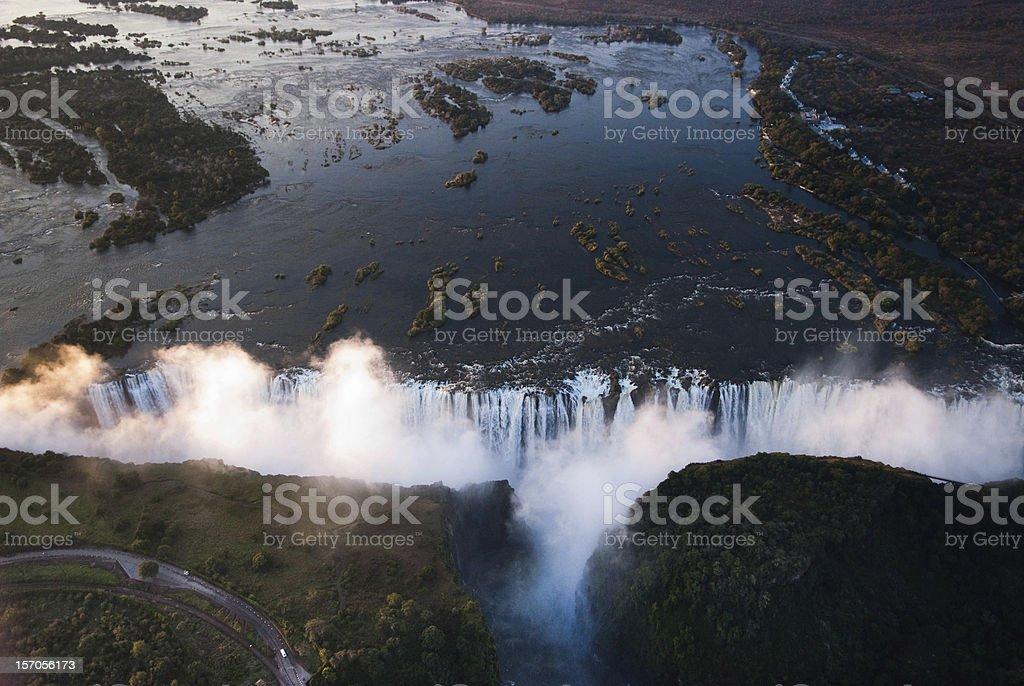 Victoria Falls Aerial royalty-free stock photo