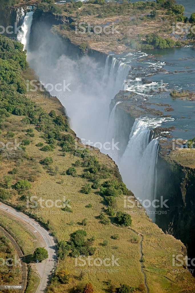 Victoria Falls Aerial View royalty-free stock photo