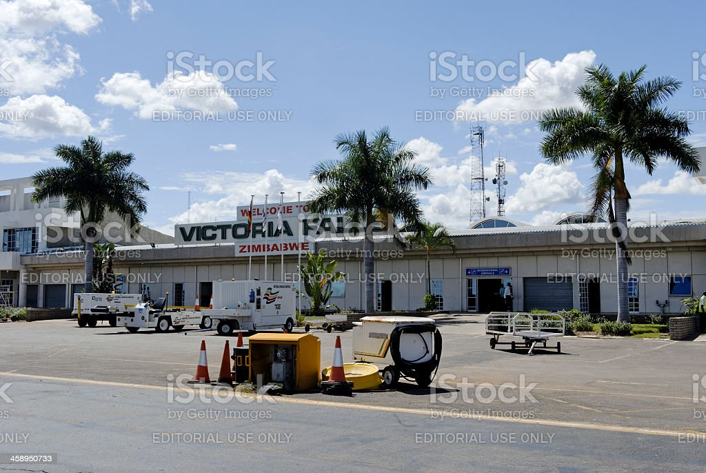 Victoria Falls Airport royalty-free stock photo