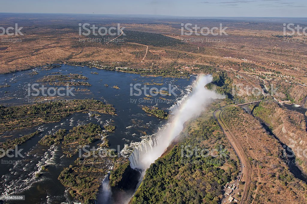 Victoria Falls Arial royalty-free stock photo