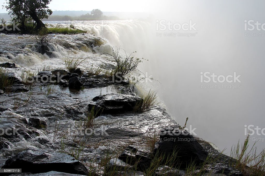 Victoria Falls, border between Zimbabwe and Zambia stock photo