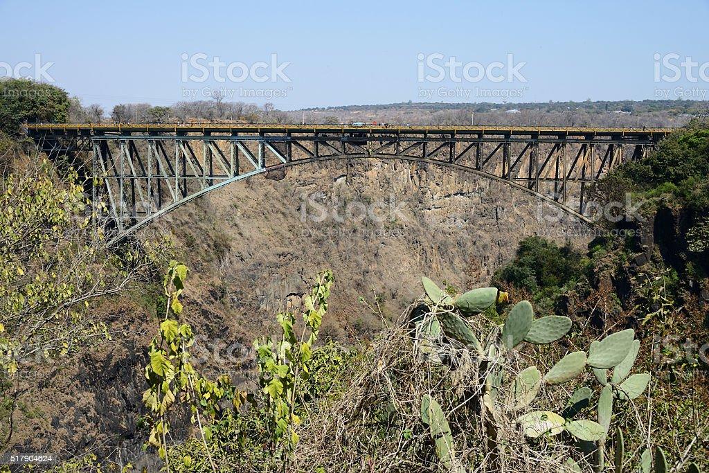 Victoria Falls Bridge, Zambia stock photo