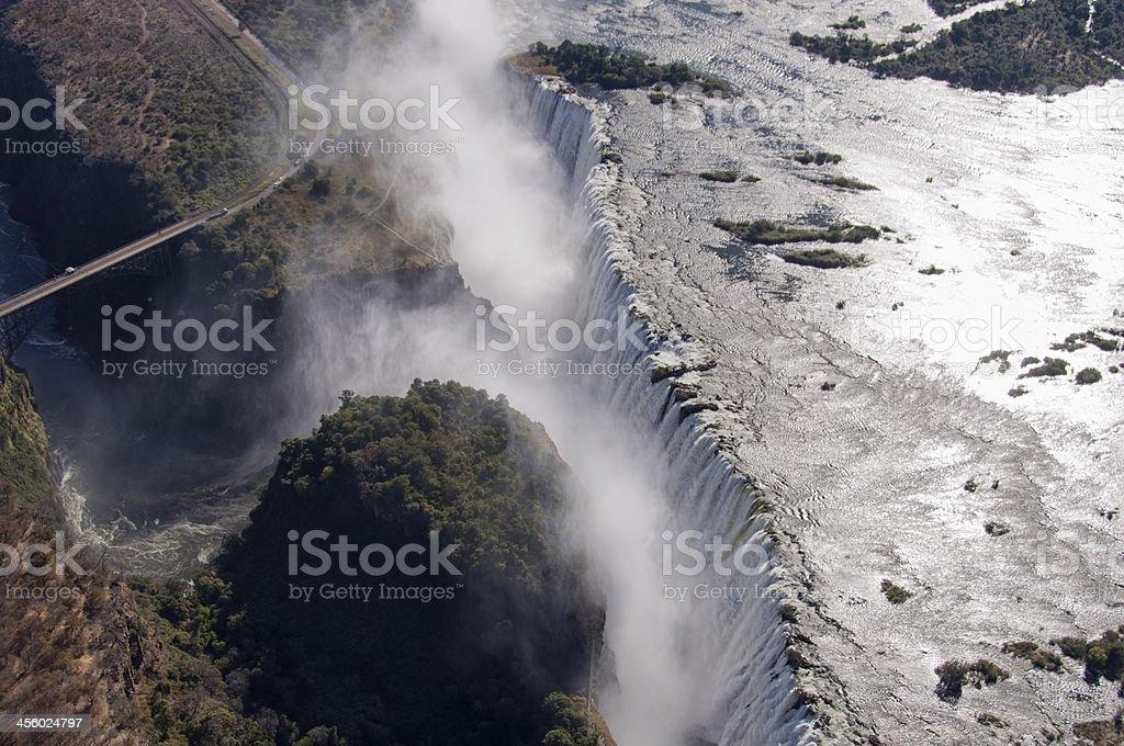 Victoria Falls Edge royalty-free stock photo