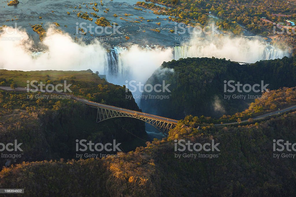 Victoria Falls from the Air stock photo
