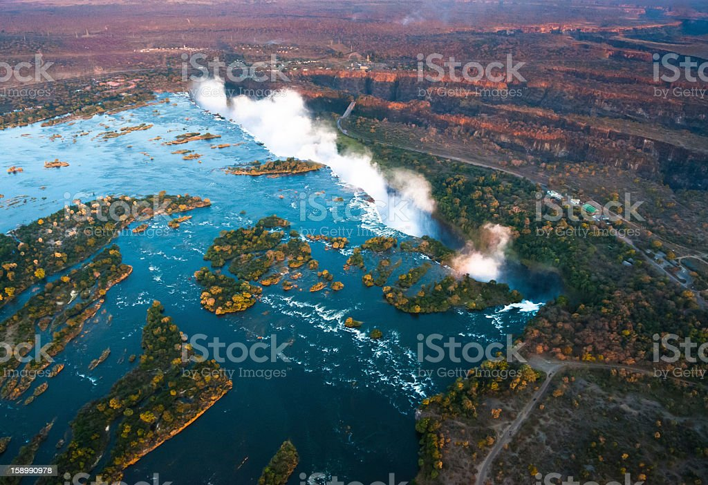 Victoria Falls from the Air royalty-free stock photo