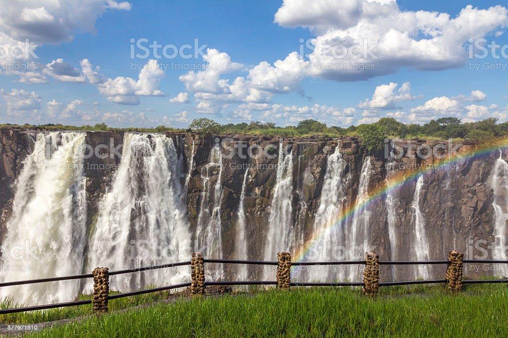 Victoria Falls in Africa stock photo
