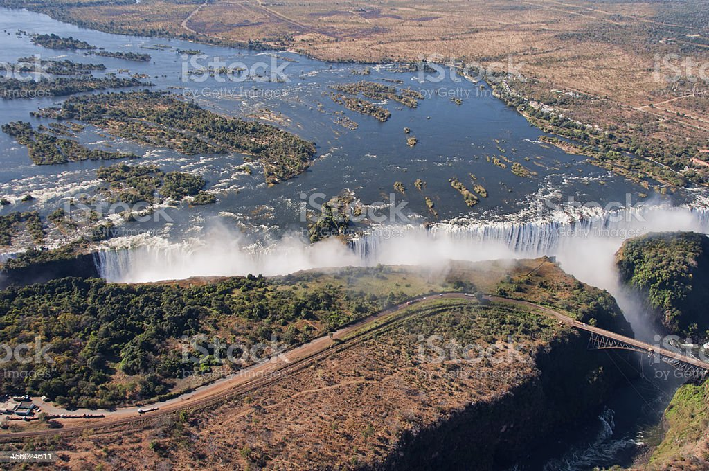 Victoria Falls Landscape royalty-free stock photo