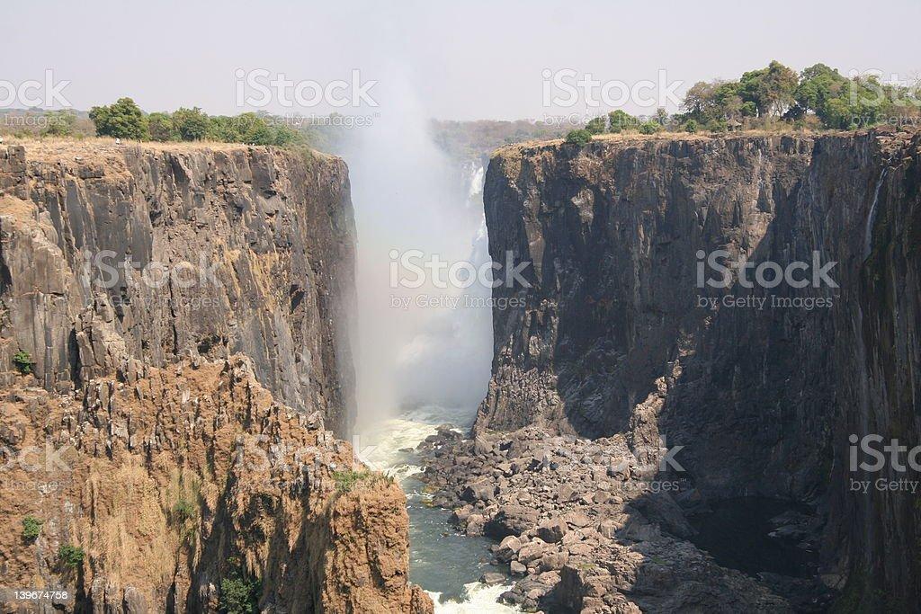 victoria falls main gorge royalty-free stock photo