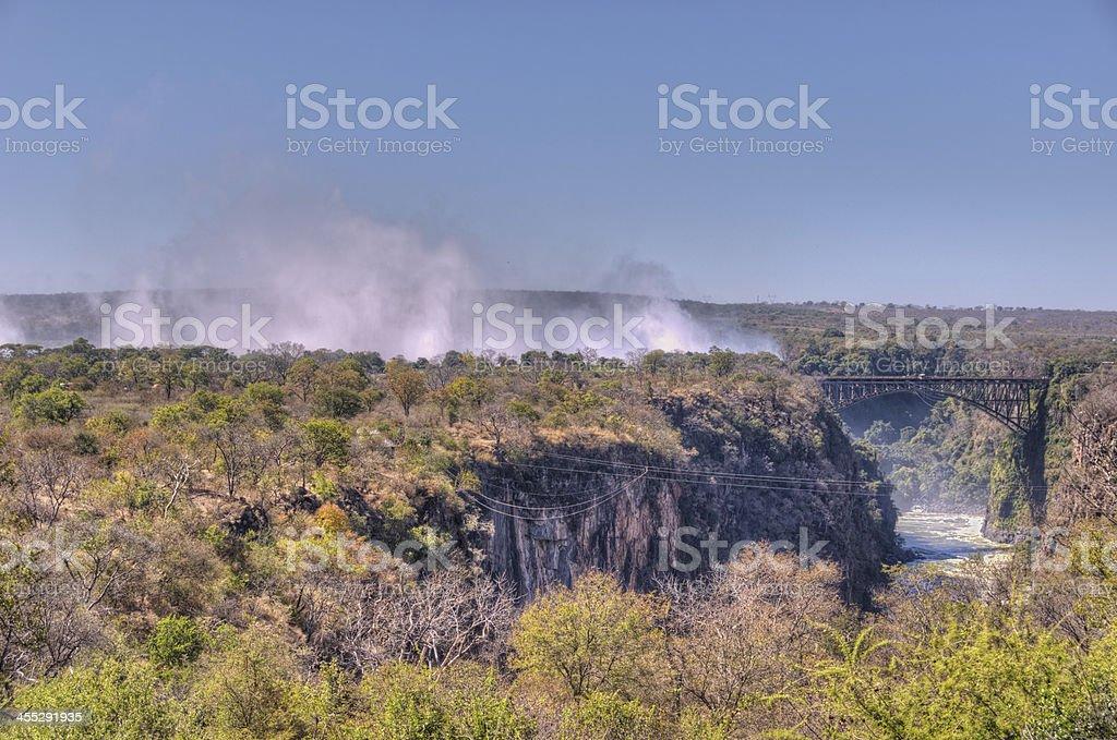 Victoria Falls Mist royalty-free stock photo