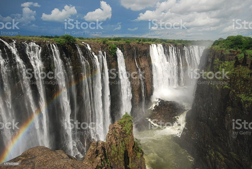 Victoria Falls, Mosi-oa-Tunya royalty-free stock photo
