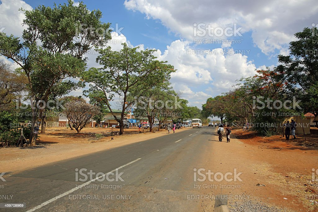 Victoria Falls Town stock photo