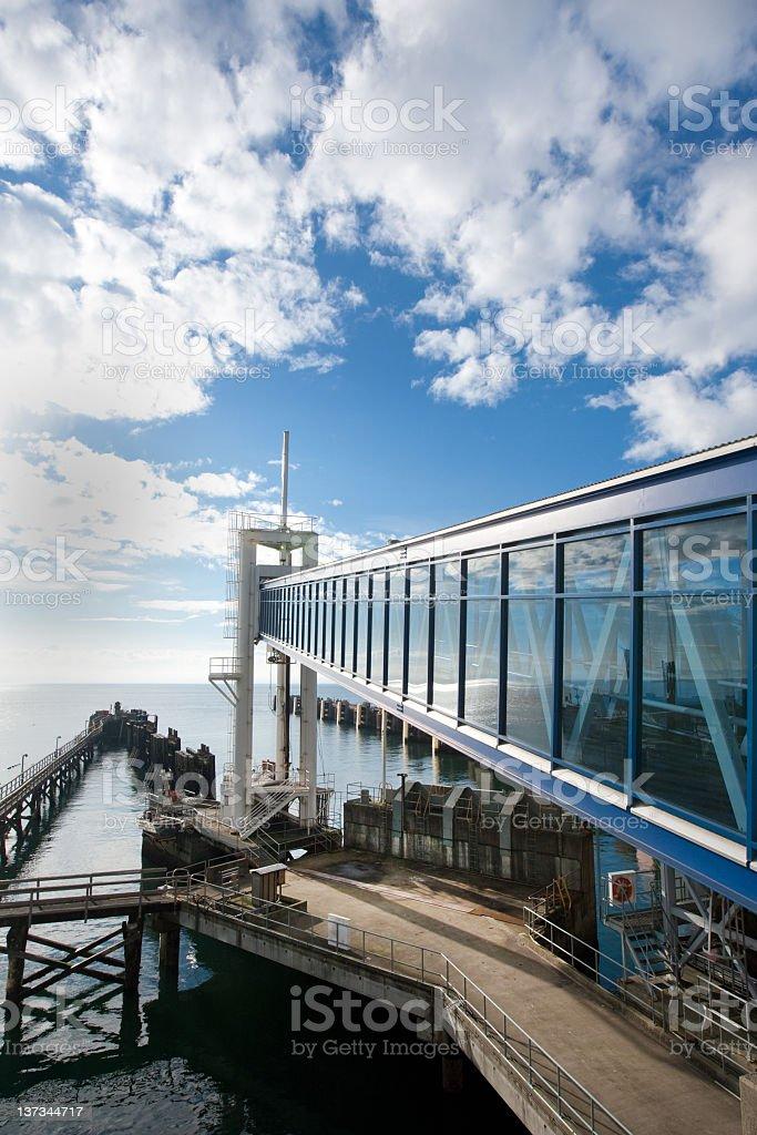 Victoria Ferry Dock - Walk-on Passenger Ramp stock photo