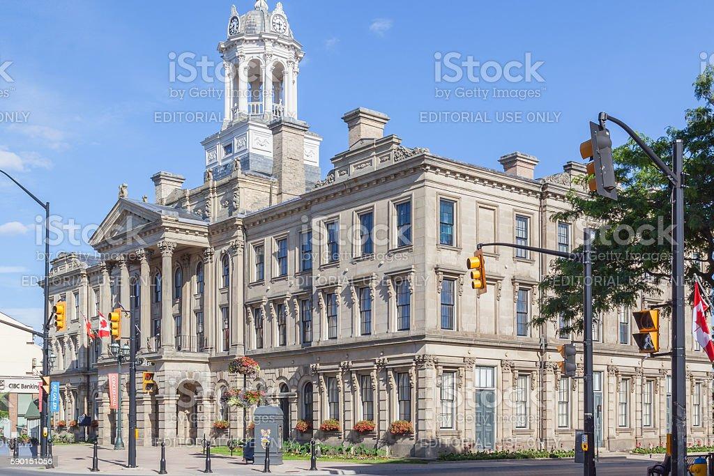 Victoria Hall (Cobourg Town Hall), Cobourg stock photo