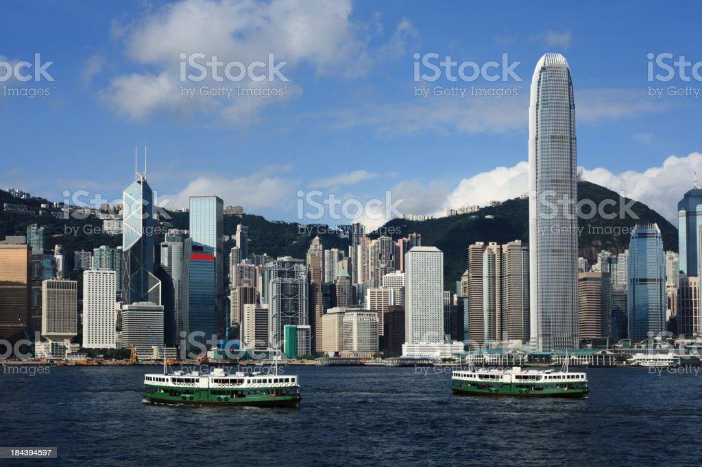 Victoria Harbor Hong Kong royalty-free stock photo