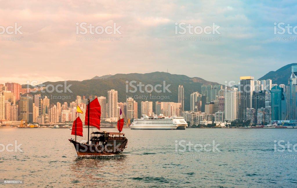 Victoria harbor Hong Kong stock photo