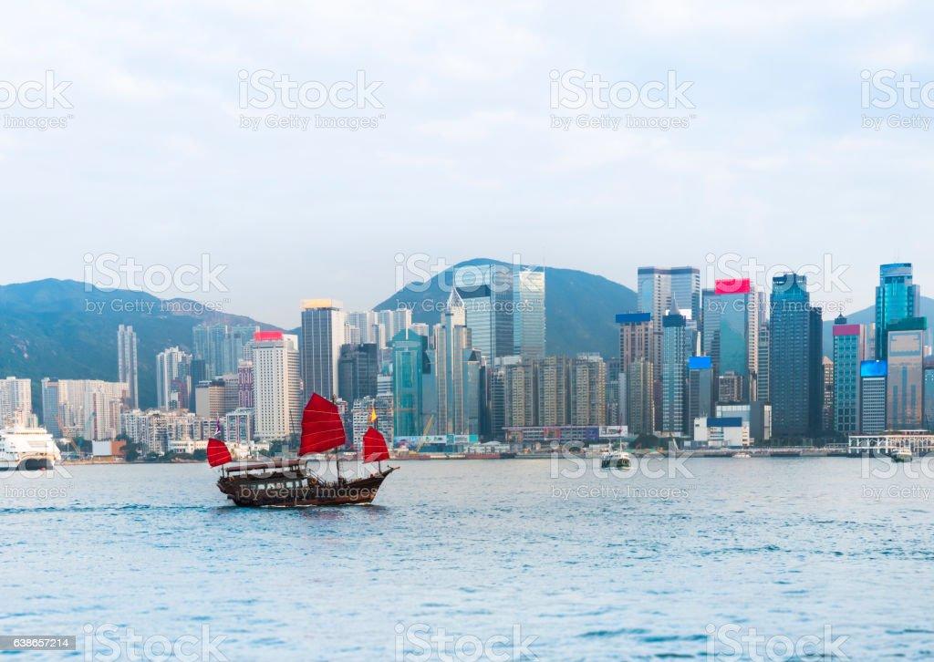 Victoria harbor : Hong Kong stock photo